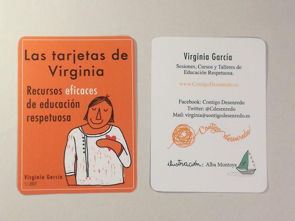 Portada y contraportada. Las tarjetas de Virginia.