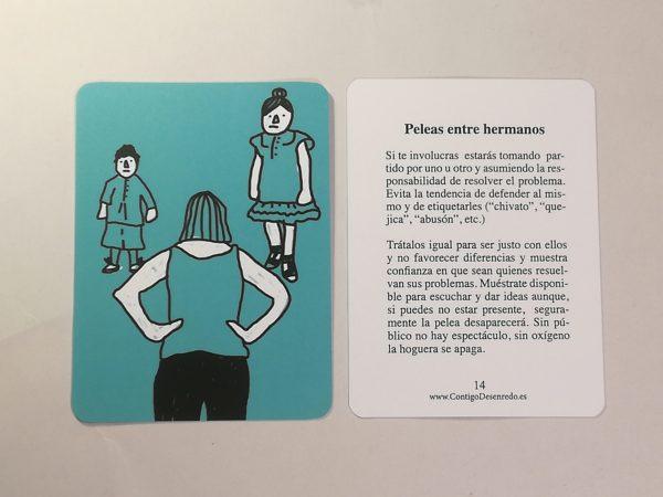 Tarjeta nº 14. Peleas entre hermanos.