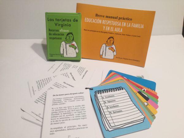 """PACK """"Las Tarjetas de Virginia"""" +Breve Manual Práctico de Ed. Respetuosa"""